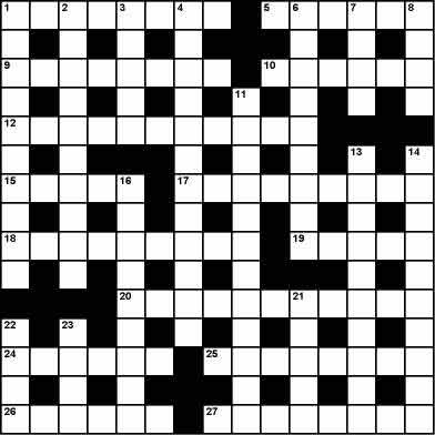 graphic relating to Printable Cryptic Crosswords identify The Separate cryptic crossword - printable edition